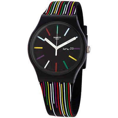 Swatch NUIT D'ETE Quartz Black Dial Men's Watch SUOB729