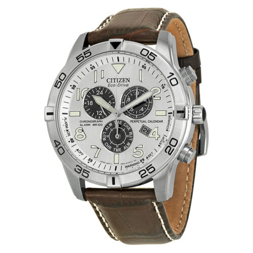 $174.00 - Citizen Men's BL5470-06A Stainless Steel Eco-Drive Watch with Leather Band