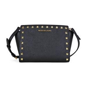 2636fb9bd946 Michael Kors Women s Selma Stud Messenger Bag - Black for sale ...
