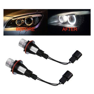 2x White Angel Eyes CREE LED Halo Bulb 5W For BMW X3 X5 M5 E39 E60 E63 E61 E65 for sale  Shipping to Canada