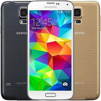 Samsung Galaxy S5 16gb White Gold Black Unlocked Smg900a