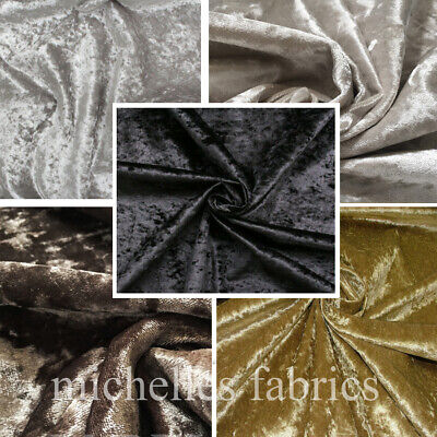 Crushed Velvet (Crushed Velvet Upholstery Fabric With Backing by the metre perfect for curtains)