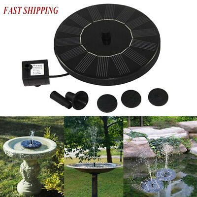 Outdoor Solar Power Bird Bath Water Dec Fountain Pump For Pool&Garden&Aquarium