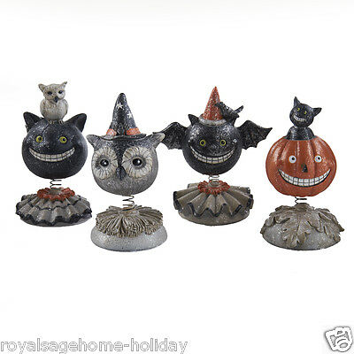40357A Happy Halloween Fun Bobble Heads Table Office Desk Decoration Critters - Halloween Decorations Office