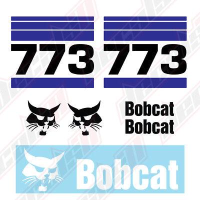 Bobcat 773 Skid Steer Set Vinyl Decal Sticker - Aftermarket