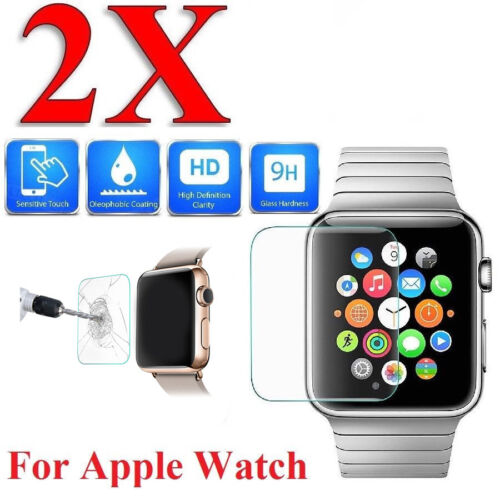 2x Tempered Glass Film Screen Protector For Apple Watch Series 3/4 38/40/42/44mm