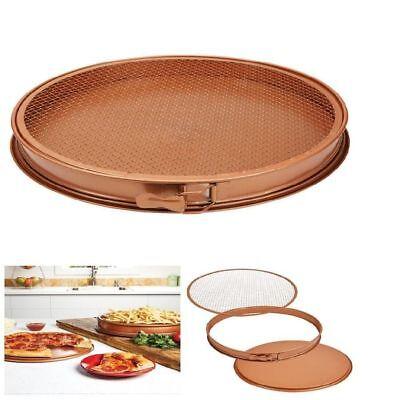 """Copper Chef Perfect Pizza and Crisper Pan 15"""""""