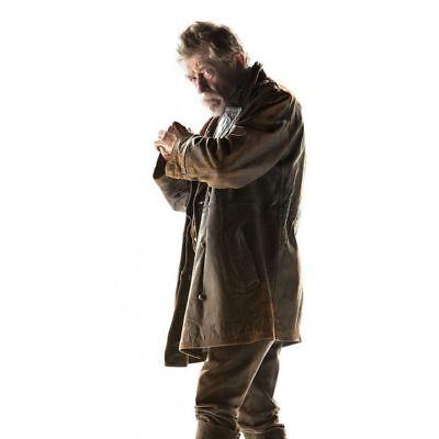 Herren John Hurt 'S Krieg Doctor Who Distressed Braun Echtleder Kostüm/Mantel