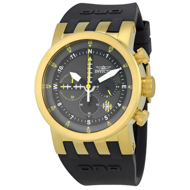 Invicta DNA Black Chronograph Mens Watch 25047