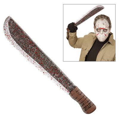 BLUTIGE MACHETE Halloween Mörder Serienkiller Horror Waffen Kostüm Zubehör (Blutige Mörder Kostüm)