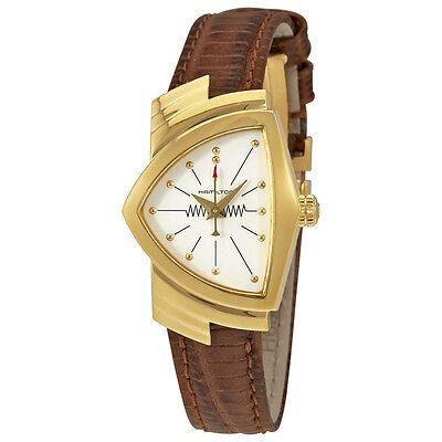 Hamilton Ventura White Dial Leather Ladies Watch H24101511