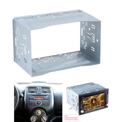 Double 2 Din Metal Car Dash Stereo Player Bezel Panel DVD Radio Frame Bracket