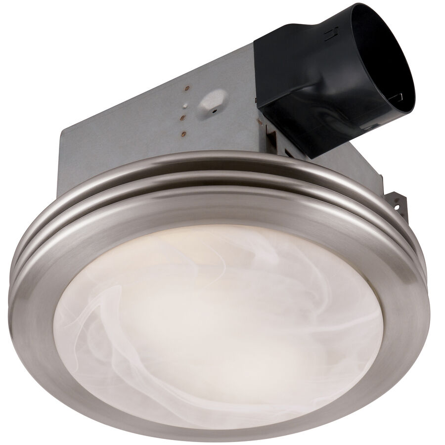 Bathroom Ceiling Fan Light Exhaust Ventilation Quiet: 80-CFM Brushed Nickel Bathroom Fan With Light Ceiling