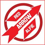 Red Arrow Sticker Designs