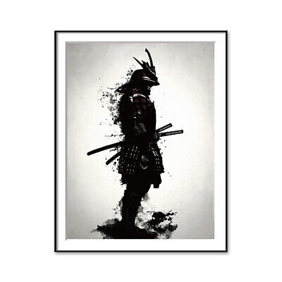 Japanese Samurai Canvas Oil Painting Modern Wall Art Pictures Canvas Print ()