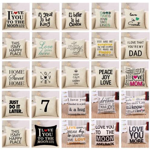 cotton linen square home decorative throw pillow