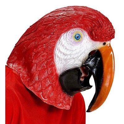 Karneval Vogel Kostüm (PAPAGEI LATEX MASKE Karneval Fasching Papageimaske Vogel Kostüm Party Deko 96636)
