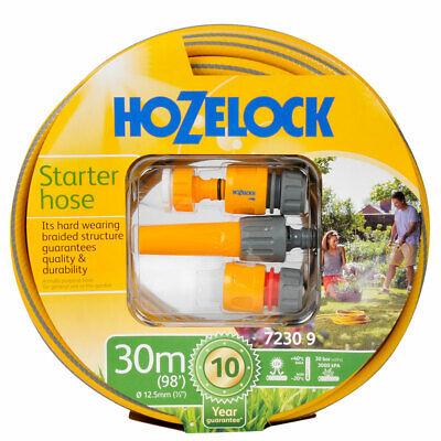 HOZELOCK  30m Starter Garden Patio Watering Equipment Hose Pipe Set - 7230
