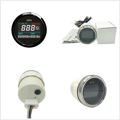 52MM UNIVERSAL MOTORCYCLE DC12V LCD DIGITAL GPS SPEEDOMETER 0999 MPH