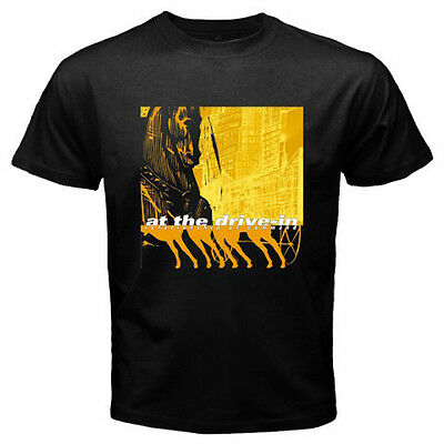 AT THE DRIVE IN Relationship of Command Rock Band Men's Black T-Shirt Size