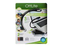 Ottlight LED USB Book Desk Light & Laptop Light With 3 Free Duracell Batteries