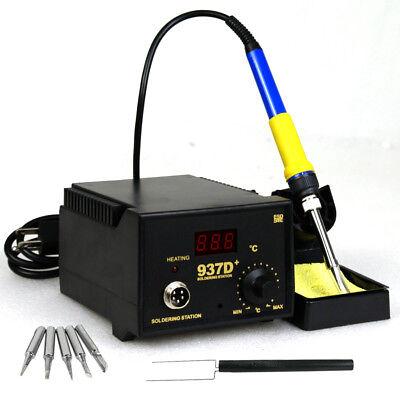 937d Esd Soldering Rework Station Digital Adjustable Welding Solder Smd Tool
