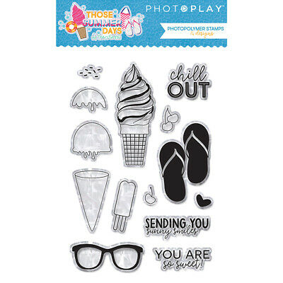 Scrapbooking Crafts Photo Play Stamps Summer Days Sandals Ice Cream Chill Out](Summer Crafts)