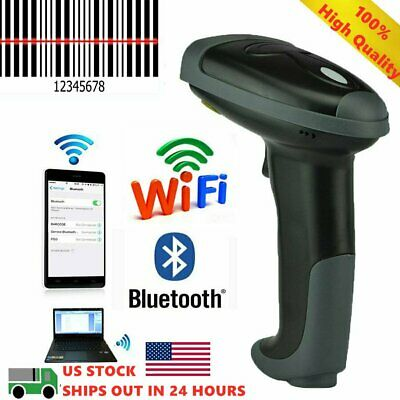 Automatic Wifi Laser Handheld Barcode Scanner Pos Gun Reader Bluetooth Wireless