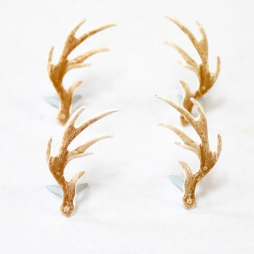 ANTLERS  BRADS ** 8 PCS ** LIGHT BROWN ** DEER **