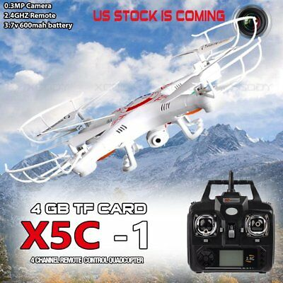 X5C-1 0.3MP Quadcopter 6-Axis Camera Drone UFO  Gyro RC UAV RTF with 2.4Ghz Dron