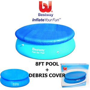 Bestway 8ft quick up pool fast set swimming paddling pool for Quick up pool oval