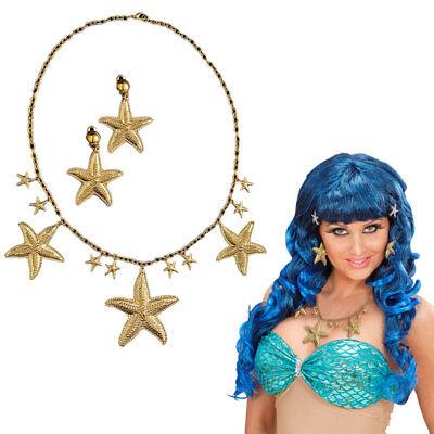 Meerjungfrau Kostüm Zubehör (MEERJUNGFRAU SEESTERNE SCHMUCK Karneval Fasching Nixe Damen Kostüm Zubehör 4997)