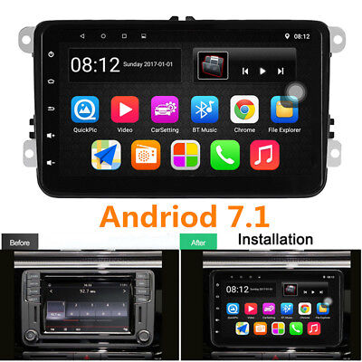 "8"" Android 7.1 Radio Player 2DIN GPS RDS Wifi for German Car Auto MK5 T5 B6 B5"