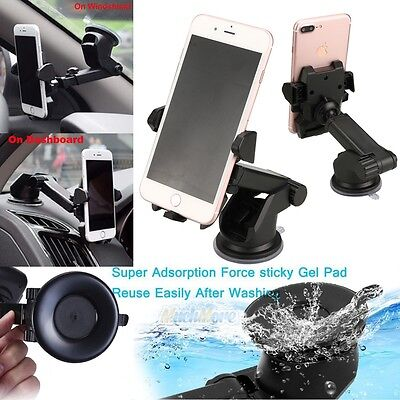 Universal 360° Car Windshield Mount Holder for Mobile Phone iPhone Samsung GPS