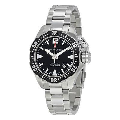 Hamilton Khaki Navy Frogman Automatic Auto Black Dial Mens Swiss Watch H77605135