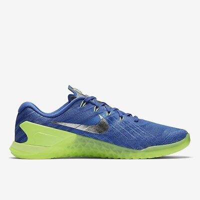 Nike Metcon 3 AMP Glow UK 6 (EUR 40 Medium Blue Summit White Ghost 852929 401