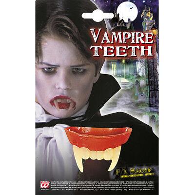 KINDER VAMPIRZÄHNE Halloween Dracula Vampir Gebiss Reiß Zähne Kostüm Party -