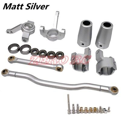 Alloy Steering Links - SCX10 Upgraded Parts CNC Alloy Steering Link, Knuckle C Hub, Lockout Matt Silver