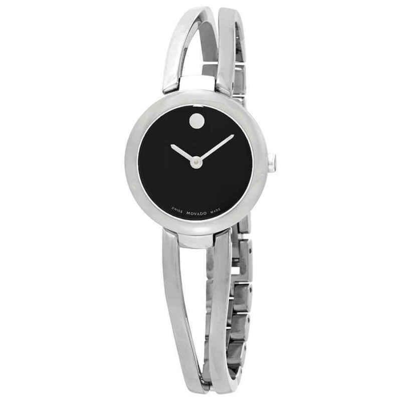 Movado Amorosa Black Dial Ladies Watch 0607131