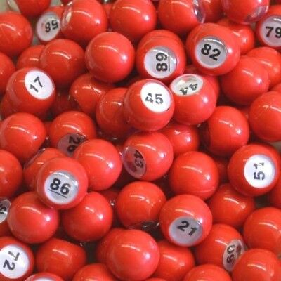 Red Balls (Red Raffle Balls 1-100, 101-200, 1-200 Number Set Plastic (.0787 inches)