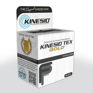 KINESIO FP Tape - 5m by 5cm BLACK - Kinesiology Tape Roll for Injuries & Support