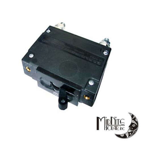 MIDNITE SOLAR MNEDC100 CIRCUIT BREAKER 100A 150VDC 1-POLE PANEL MOUNT