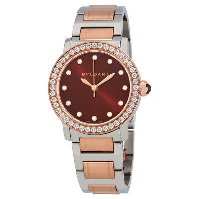 Bvlgari Bvlgari Brown Dial Diamond Automatic Ladies Watch 102478