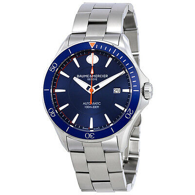 Baume et Mercier Clifton Blue Dial Automatic Mens Watch MOA10378