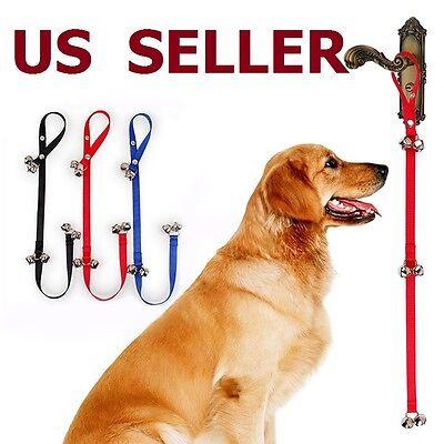 Adjustable Pet Dog Door Bells Potty Training Puppy Doorbell -