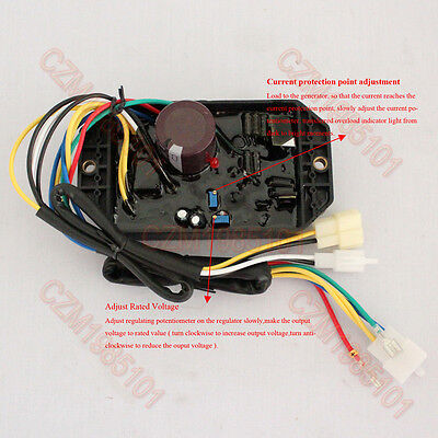 Voltage Regulator Ply-davr-50s Avr 10 Wires For Kipor Generator 1 Phase 5kw