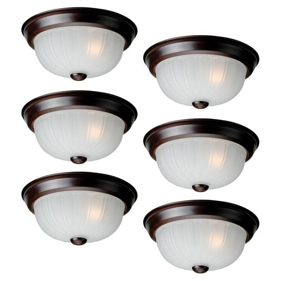 Project Source 6-Pack 10-in Bronze Flush Mount Ceiling Light