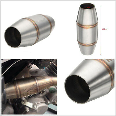 STAINLESS STEEL UNIVERSAL MOTORCYCLES EXHAUST PIPE MUFFLER EXPANSION C