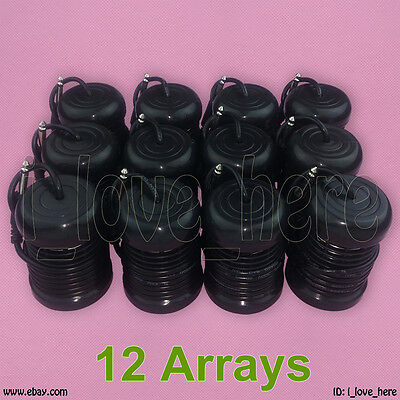 12 Negro Round Arrays for Ionic Detox Foot Bath Spa Cleanse Machine Accessories