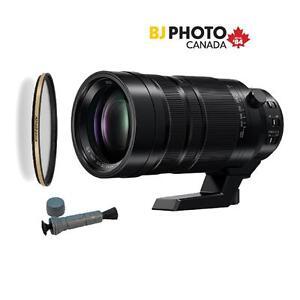 Panasonic LEICA DG 100-400mm VARIO-ELMAR Telephoto, Micro 4/3 Lens, German Schott Glass Filter, LensMate
